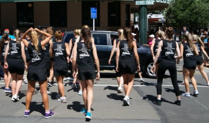 City Fitness girls limbering up