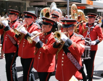 New Zealand's Lead Band courtesy New Zealand Army