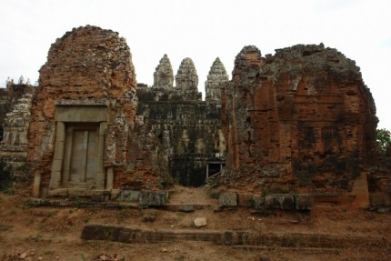 Ruins at Phnom Bakheng Temple - Cambodia