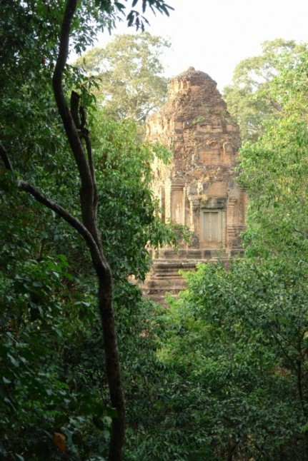 Ruined Temple in Jungle near Angkor Wat