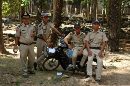 Police Group at the temples - Cambodia