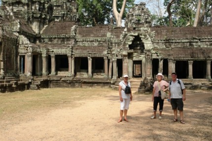 Touring party at Ta Prohm - Cambodia