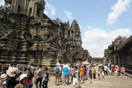 Queues at Angkor Wat - Cambodia