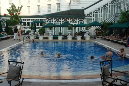 Our pool at the Metropole